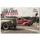 Hot Rod Cars And Model Girl Nice Poster Print 32x24
