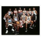 Michael Jordan Team Photo Basketball MVP Poster Print 32x24