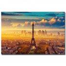 Sunrise Paris Effie Tower Landscape Poster 32x24