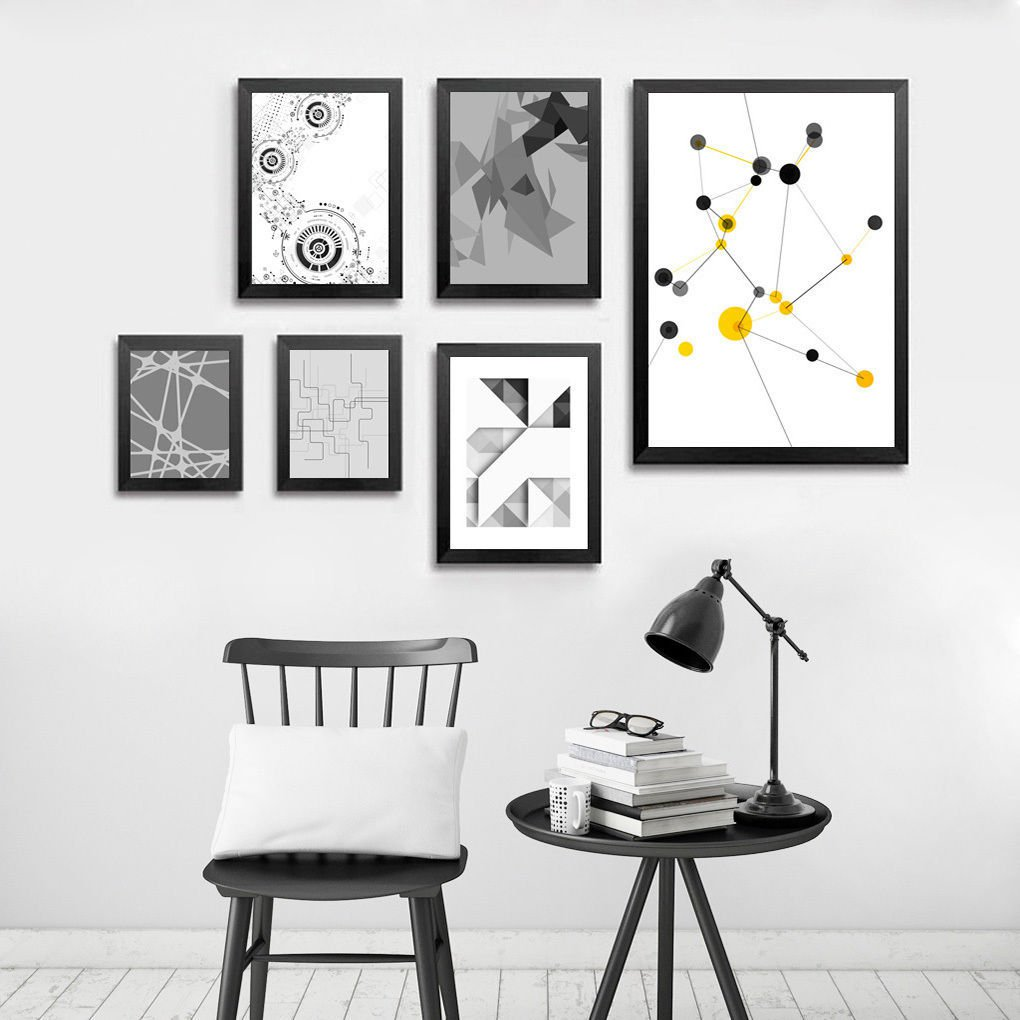 Geometry Abstract Minimalist Art Canvas Poster Picture Modern Decor 32x24