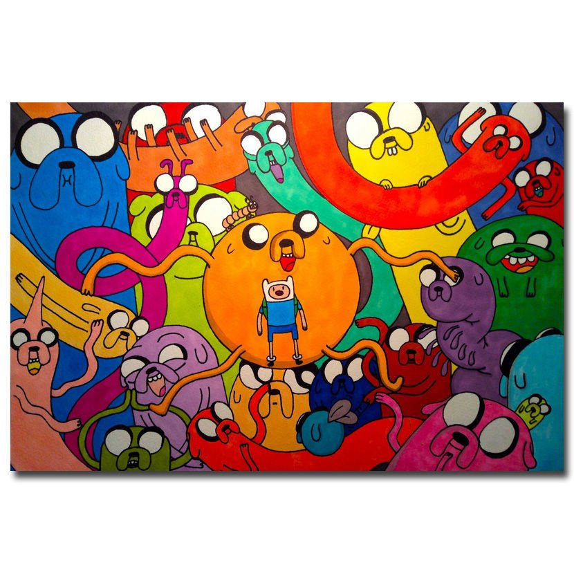 Adventure Time Cartoon Anime Art Poster Print Finn Jake 32x24