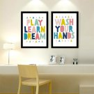 Minimalism Quote Canvas Poster Nursery Letter Art Picture For Kid Room Decor 32x
