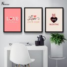 LOVE Motivational Quote Minimalist Art Canvas Poster Pictures 32x24