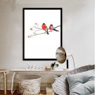 Birds And Flower Minimalist Art Canvas Poster Picture Chinese Style Decor 32x24