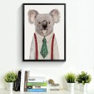 Kaola Bear Animal Minimalist Art Canvas Poster Picture Modern Decor 32x24