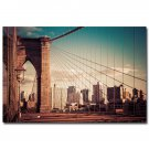 New York Bridge Landscape Poster 32x24