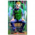 Joker Psychedelic Trippy Art Fabric Poster Print 32x24