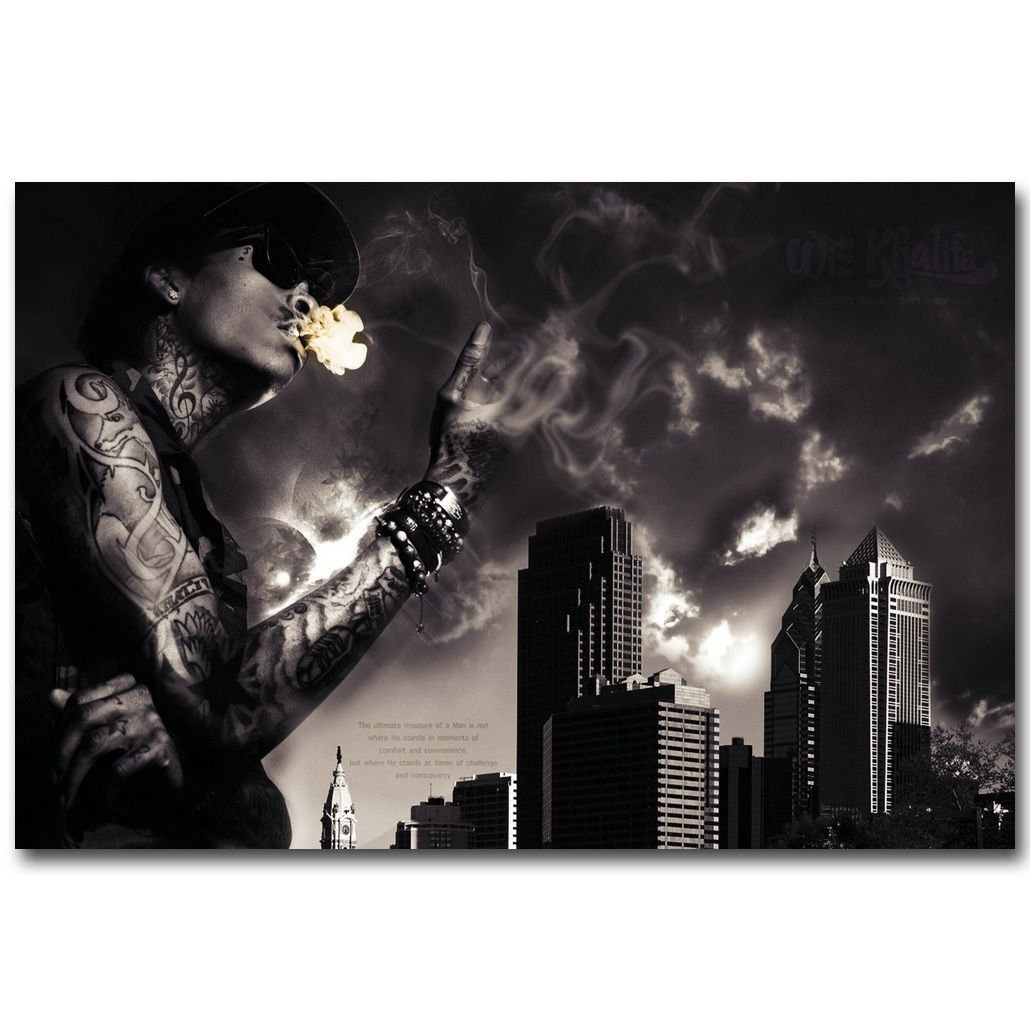 Wiz Khalifa Hot Music Rapper Poster Picture For Wall Decor 32x24