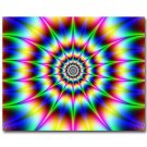 Trippy Fractal Explosion Abstract Art Poster 32x24