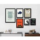 Cute Cartoon Cat Animals Minimalist Art Canvas Poster Children Room Decor 32x24