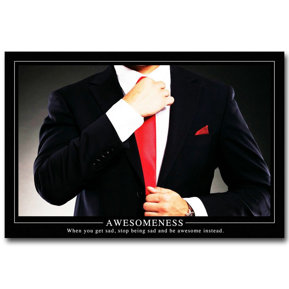 AWESOMENESS Motivational Inspirational Quotes Poster 32x24