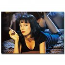 Pulp Fiction Classic Movie Art Fabric Poster Uma Thurma 32x24