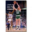 Larry Bird Dunk Motivational Quotes Basketball Poster 32x24