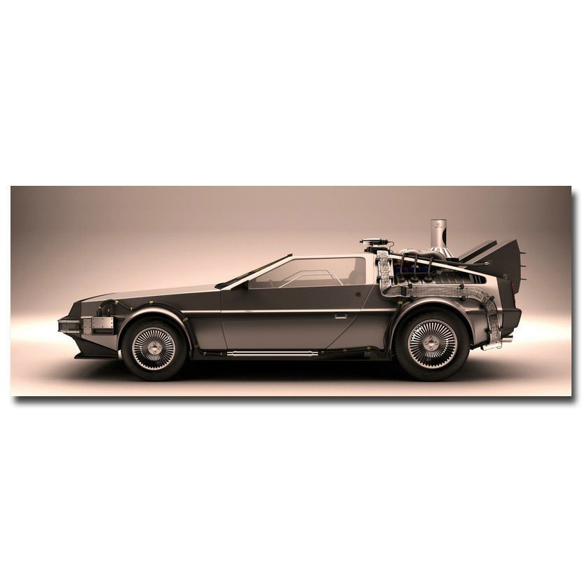 Back To The Future Car 1 2 3 Poster Huge Print 32x24