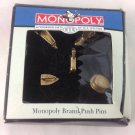 W. T. WILSON MONOPOLY  5 PUSH PINS, NEW IN DAMAGED BOX.