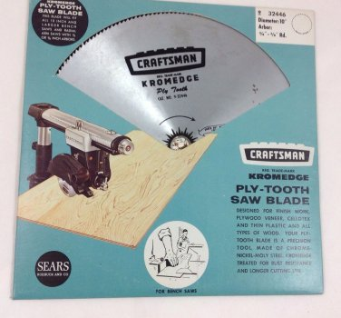 Sears Craftsman Kromedge Ply Tooth Saw Blade 10""