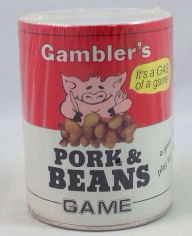 Vintage- **Gambler's Pork & Beans Game** 1981 Milwaukee Wisconsin- Family Fun