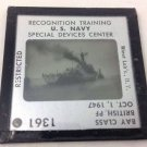 Restricted Us Navy Recognition Training Glass Slide. British P F Bay Class 1947
