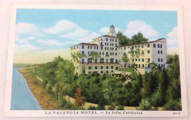 La Valencia Hotel La Jolla California 1940 postcard