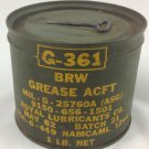 Vietnam War Air Plane BRW GREASE Can G-361 Air Craft By Royal Lubricants 1962