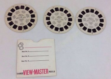 1959 Viewmaster B 5271 5272 5273 Popeye Fish Story Football Fans Hunting Bird