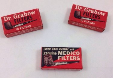 Dr. grabow 2pk. 10 in each pk. pipe filters new in box Vintage