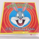 Looney Tunes 3D Popcard Children's Birthday Card, Warner Brothers Bugs Bunny NEW