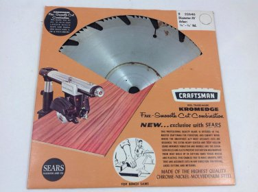 """Sears Craftsman Kromedge Free And Smooth  Cut Combination Blade 10"""""""