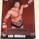 DON MURACO - 2010 Topps WWE Championship Material PUZZLE