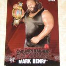MARK HENRY - 2010 Topps WWE Championship Material PUZZLE
