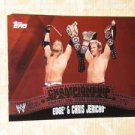 EDGE & CHRIS JERICHO - 2010 Topps WWE Championship Material PUZZLE