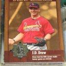J.D. Drew 2001 SP Game Bat Milestone