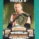 TRIPLE H 2010 Topps WWE World Championship Material