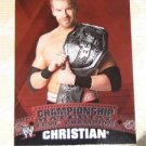 CHRISTIAN - 2010 Topps WWE Championship Material #C1