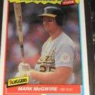 Mark McGwire 1987 Fleer Sluggers & Pitchers