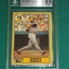 1987 Topps Barry Bonds Rookie Card BGS 8.5