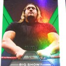 BIG SHOW - 2010 Topps WWE Platinum Performance Green Refractor #052 of 499