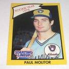 1989 Kenner Starting Lineup Card Paul Molitor
