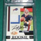 2007 Threads Rookie Collection Autograph Jersey Patch Trent Edwards BGS 9