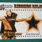 SHAWN MICHAELS - 2005 Topps WWE Heritage Ringside Relics Event Worn Shirt