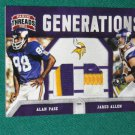 2011 Panini Threads Generations Alan Page & Jared Allen Jersey Patch #02 of 50