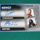 CRIMSON & ABYSS - 2011 Tristar TNA Signature IMPACT AUTOGRAPH #66 of 99 made
