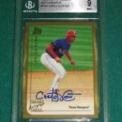 1999 Topps Traded Carlos Pena Autograph Rookie Card BGS 9