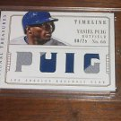 2014 National Treasures Timeline Materials Names Jersey Patch Yasiel Puig #/25