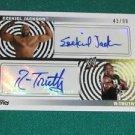 R-TRUTH & EZEKIEL JACKSON - 2010 Topps WWE Dual Autograph #43 of 99 Made