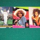 WHITNEY HOUSTON 1991 United Kingdon UK Pro Set Super Stars Card Set & Super Bowl