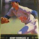 1991 Leaf Gold Rookies Henry Rodriguez Rookie Card