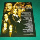 The X-Files Season 9 Cards 8x10 Promo Poster Molder & Scully Ad Sheet