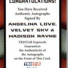 Velvet Sky, Angelina Love & Madison Rayne -2009 TNA Impact Autograph #05/25 wwe