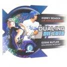 2014 Bowman Chrome Dualing Die-Cut Shimmer Refractor Eddie Butler Corey Seager